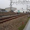 JR宝塚線脱線事故 復旧工事現場1