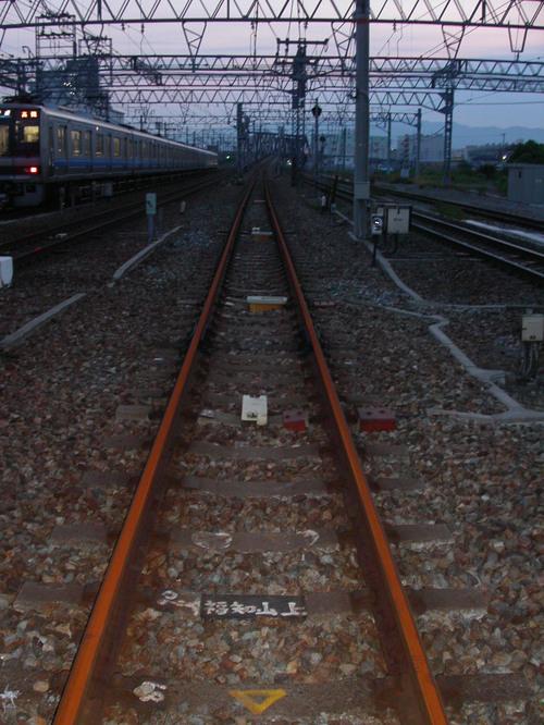 JR宝塚線脱線事故 一ヶ月目 赤錆だらけの線路とATS-P地上子