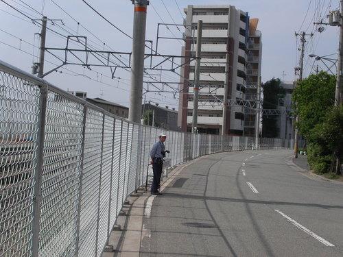 JR宝塚線 試運転を待つ朝3