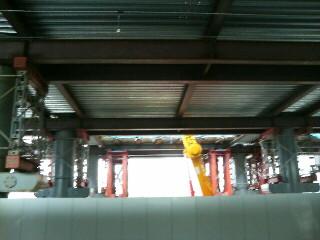 奈良駅高架工事中